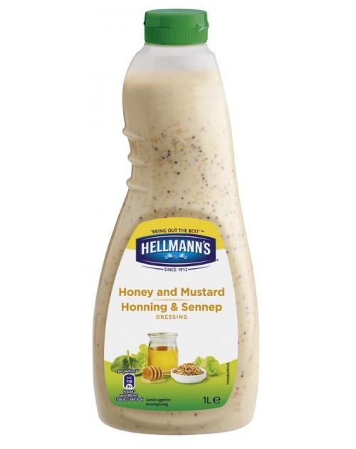 Мед и горчица сос Hellmann's 1 л
