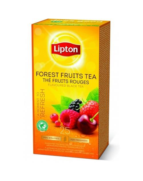 Lipton Черен Чай Горски Плодове 25бр.