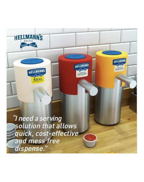 Hellmann's кетчуп пауч за диспенсер 2.5 кг. Цената е за кашон от 3 броя пауча!