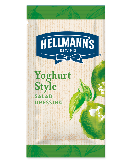Hellmann's салатен дресинг йогурт и лайм - доза 30 ml - 50 бр в кашон